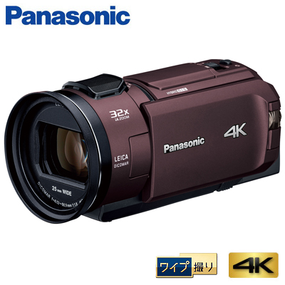 【キャッシュレス5%還元店】パナソニック デジタル 4K ビデオカメラ 64GB 4K PREMIUM ワイプ撮り HC-WZX2M-T カカオブラウン【送料無料】【KK9N0D18P】