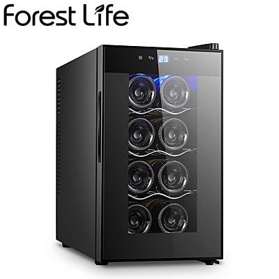 【キャッシュレス5%還元店】フィフティ ワインセラー 庫内容量25L 8本収納 家庭用 右開き Forest Life WCF-08【送料無料】【KK9N0D18P】