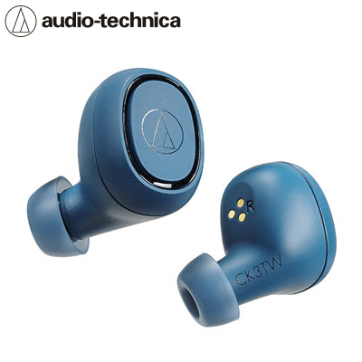 【キャッシュレス5%還元店】オーディオテクニカ 完全ワイヤレスイヤホン Bluetooth対応 ATH-CK3TW-BL ブルー【送料無料】【KK9N0D18P】