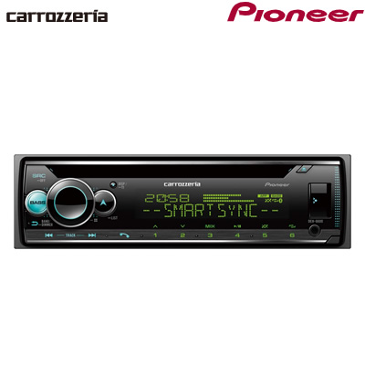 パイオニア カロッツェリア カーオーディオ 1DIN CD/USB/Bluetooth DEH-6600【送料無料】【KK9N0D18P】