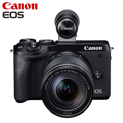 Canon キヤノン ミラーレス一眼カメラ EOS M6 Mark II EF-M18-150 IS STM レンズEVFキット EOSM6MK2BK-18150EVFK ブラック【送料無料】【KK9N0D18P】