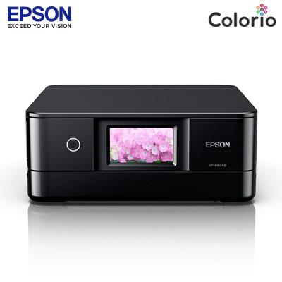 エプソン カラリオ プリンター A4対応 インクジェット複合機 EP-882AB ブラック【送料無料】【KK9N0D18P】