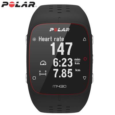 ポラール Polar M430 GPSランニングウォッチ Sサイズ 活動量計 光学式心拍計 M430-BK-S ブラック【送料無料】【KK9N0D18P】