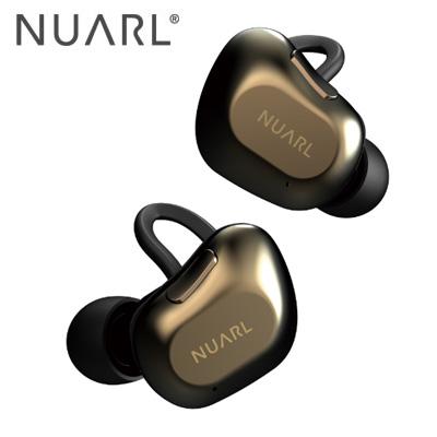 【キャッシュレス5%還元店】NUARL 完全ワイヤレスイヤホン NT01A-BG ブラックゴールド HDSS採用 Bluetooth5対応 耐水 ヌアール【送料無料】【KK9N0D18P】