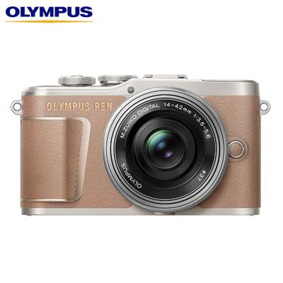 【キャッシュレス5%還元店】オリンパス ミラーレス一眼カメラ OLYMPUS PEN E-PL10 14-42mm EZ レンズキット E-PL10-EZLK-BR ブラウン【送料無料】【KK9N0D18P】