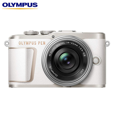 【キャッシュレス5%還元店】オリンパス ミラーレス一眼カメラ OLYMPUS PEN E-PL10 14-42mm EZ レンズキット E-PL10-EZLK-WH ホワイト【送料無料】【KK9N0D18P】