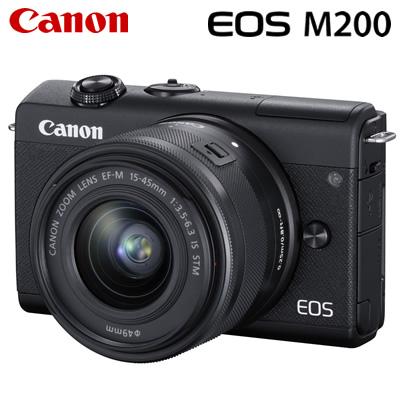 キヤノン ミラーレス一眼 EOS M200 EF-M15-45 IS STM レンズキット デジタルカメラ EOSM200BK-LK ブラック 3699C008 Canon【送料無料】【KK9N0D18P】