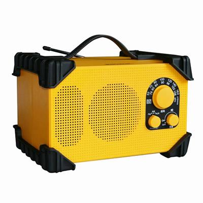 送料無料 代引き手数料無料 ウィンテック 新作入荷!! 防滴防塵現場ラジオ KK9N0D18P GBR-3D 保障 WINTECH イエロー