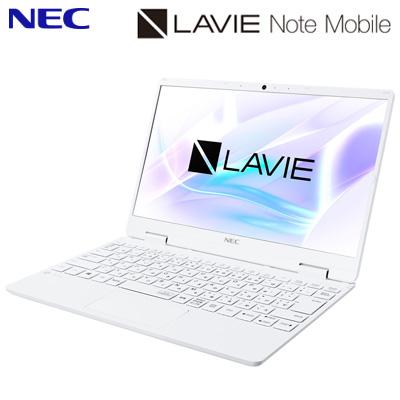 【キャッシュレス5%還元店】NEC ノートパソコン 12.5型 LAVIE Note Mobile NM150/RAW PC-NM150RAW パールホワイト intel Celeron メモリ4GB SSD256GB 2020年春モデル【送料無料】【KK9N0D18P】