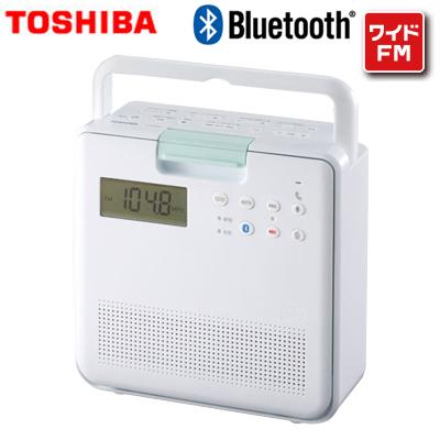 送料無料 代引き手数料無料 超人気 即納 激安☆超特価 東芝 SD CDラジオ TY-CB100-W Bluetooth ワイドFM ホワイト リモコン付き KK9N0D18P
