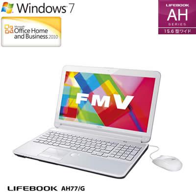 후지쯔 노트 PC FMV LIFEBOOK 라이프 북 AH AH77/G 15.6형 FMVA77GW 어번 화이트 2012년 봄 모델