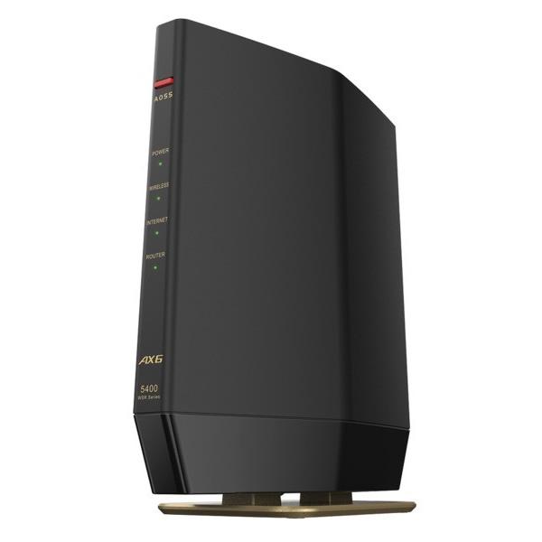 送料無料 代引き手数料無料 バッファロー Wi-Fi 6 対応ルーター プレミアムモデル WSR-5400AX6S-MB BUFFALO AirStation 11ax KK9N0D18P 4803+573Mbps 手数料無料 マットブラック クリアランスsale!期間限定!