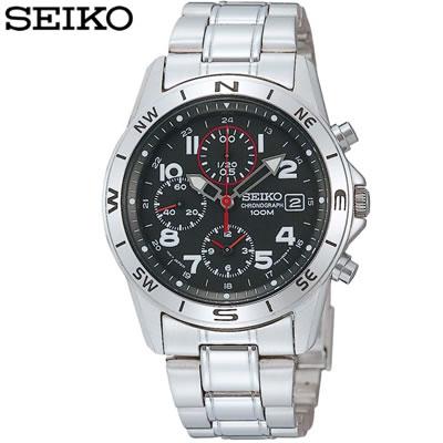 【キャッシュレス5%還元店】正規品 セイコー 腕時計 メンズ SND375PC ブラック SEIKO 【送料無料】【KK9N0D18P】