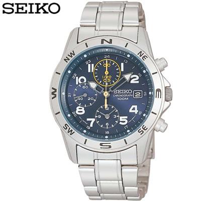 【キャッシュレス5%還元店】正規品 セイコー 腕時計 メンズ SND379PC ネイビー SEIKO 【送料無料】【KK9N0D18P】