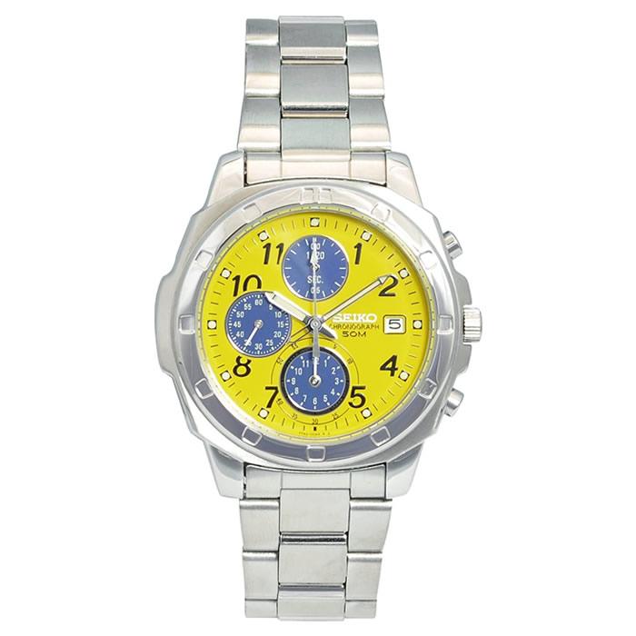 【キャッシュレス5%還元店】正規品 セイコー 腕時計 メンズ SND409PC イエロー SEIKO 【送料無料】【KK9N0D18P】