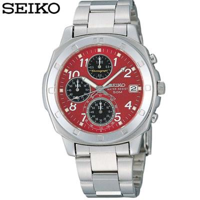 【キャッシュレス5%還元店】正規品 セイコー 腕時計 メンズ SND495PC レッド SEIKO 【送料無料】【KK9N0D18P】