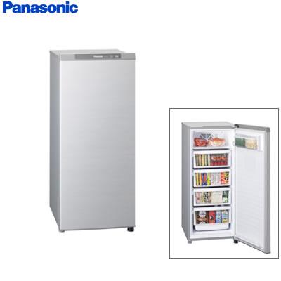 パナソニック 冷凍庫 121L 1ドア ホームフリーザー NR-FZ120B-S シャイニングシルバー 【送料無料】【KK9N0D18P】
