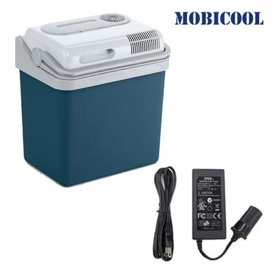 【セット】MOBICOOL ポータブルクーラーボックス 容量24L+AC/DCアダプターセット P24DC-MPA-5012 【送料無料】【KK9N0D18P】