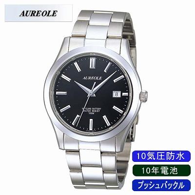 【キャッシュレス5%還元店】AUREOLE オレオール 腕時計 SW-409M-1【送料無料】【KK9N0D18P】