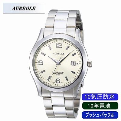 【キャッシュレス5%還元店】AUREOLE オレオール 腕時計 SW-409M-4【送料無料】【KK9N0D18P】