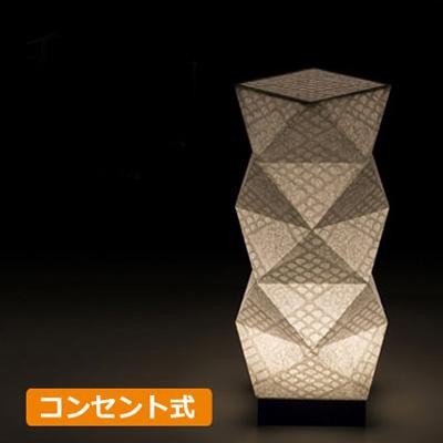 【手漉き和紙 市松】手作り和照明 LEDフロアスタンド 和紙スタンドライト 多面体タイプ 30cm ウィル電子 SQB303-11 コンセント式 【送料無料】【KK9N0D18P】