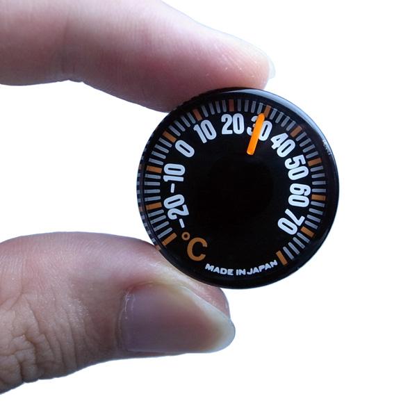 温度計 超小型 500円玉サイズ アナログ T-27 入荷待ち:メール便可¥320