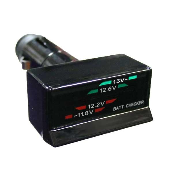 6つのLEDで バッテリー電圧のチェック バッテリーチェッカー 本日限定 CARMATE メール便可¥320 返品不可 充電 車載用 バッテリー容量