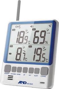 무선 온 습도 계: A&D 무선 온 습도 계: 부모가 제트 그것 자기 세트 AD-5663