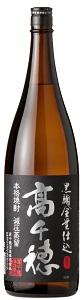 高千穂酒造黒麹 高千穂 黒ラベル 麦25度1800ml/6本.hnお届けまで14日ほどかかります