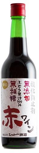 シャトー勝沼無添加・無補糖 赤ワイン 辛口 600ml/12本.hn