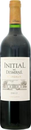 イニシャル ド デスミライユ 2012 赤 750ml/12本INITIAL DE DESMIRAIL2720 デスミライユのセカンド。しなやかで、馴染むのが早いワインをブレンド。黒果実とトースト香、クリーンでバランスの良い味わい。