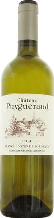 シャトー ピュイグロー ブラン 2014 白 750ml/12本CHATEAU PUYGUERAUD BLANC449.e希少なソーヴィニヨングリを多く使用しエキゾチックな風味とふくよかさを表現。酸やミネラルとのバランスもよく、華やかで溌剌としたきれいな果実味のワイン。