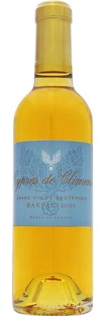 シプレ ド クリマン 2012年 白 375ml/12本CYPRES DE CLIMENS2339/1855年の格付けでソーテルヌのプルミエ・クリュ・クラッセに認定されたシャトー・クリマンのセカンド。白い花や白い果実などのアロマとフレッシュさをもつエレガントなワイン