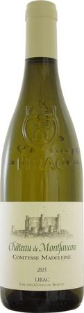 シャトー ド モンフォーコン リラック ブラン コンテス マドレーヌ 2015年 白 750ml/12本CHATEAU DE MONTFAUCON LIRAC BLANC COMTESSE MADELEINE.149南仏の白独特の、まろやかさの中にあるコクや切れ味が印象的なワイン。人気の赤同様、期待通りの味わい