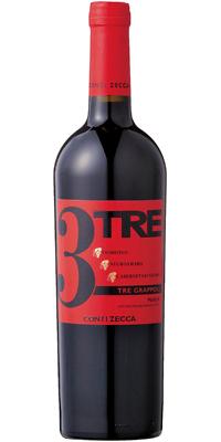 コンティ・ゼッカトレ・グラッポリ コンティ・ゼッカ 赤 750ml/12本mxTRE grappoli Rosso Conti Zecca649815