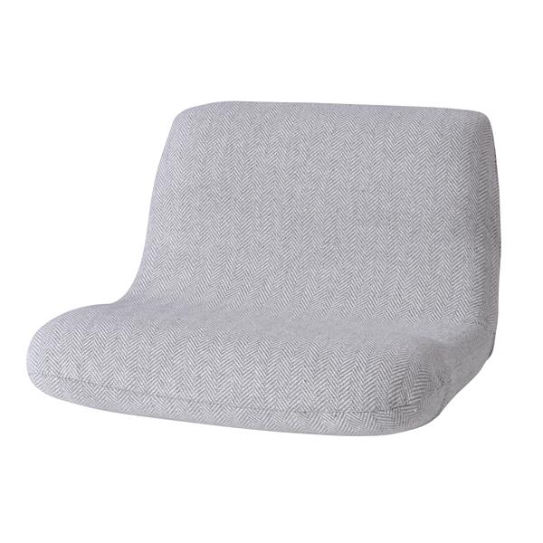 座椅子 直営店 グレー カックンリクライナー ワイド 57×H22 アイテム勢ぞろい 37×SH12cm W55×D51
