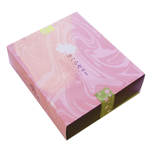 Cold cherry blossom Sakura jelly 6 pieces (cherry jelly) (Sakura Sakura) and cherry blossom viewing ( Akita eitaro EI might have been been ) ( Japanese ) (present gift) (seasonal)