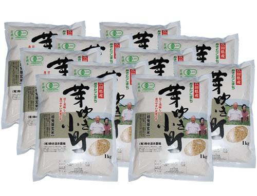 有機米芽吹き小町 発芽玄米10kg