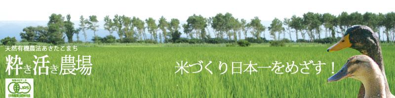 秋田の粋き活き農場:生産農家だからお届け出来るお米と安心がある!