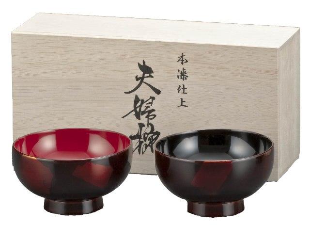 銀間夫婦椀(木箱入り)
