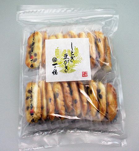 黒豆の風味が香ばしいシンプルおかき 一乃穂 保障 国内送料無料 しとぎ豆がき 20枚袋入