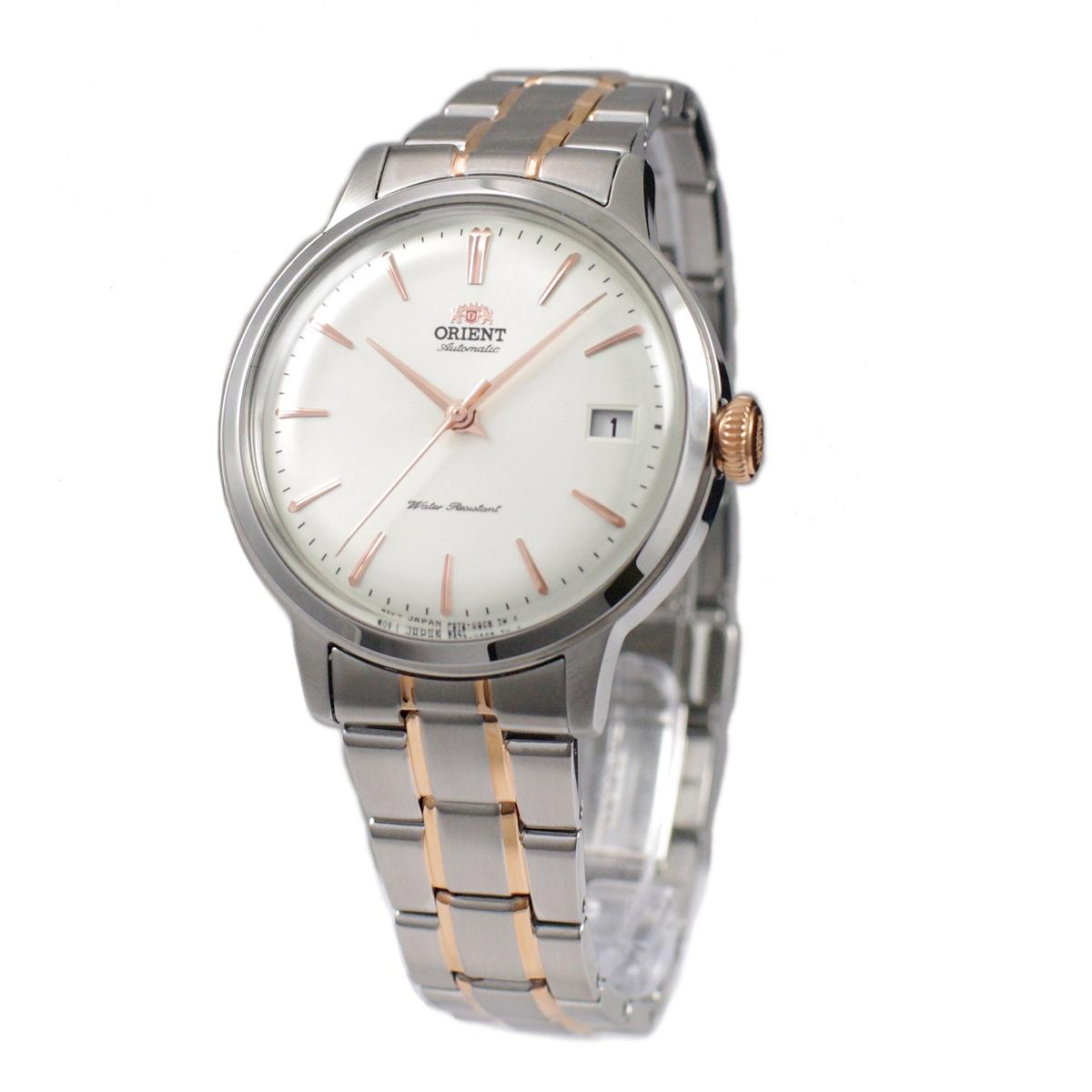 安全 AUTOMATIC ホワイト ピンクゴールド LADIES オリエント ORIENT 腕時計 自動巻き 海外モデル 逆輸入品 RA-AC0008S10B バンビーノ レディース 手巻付き 店