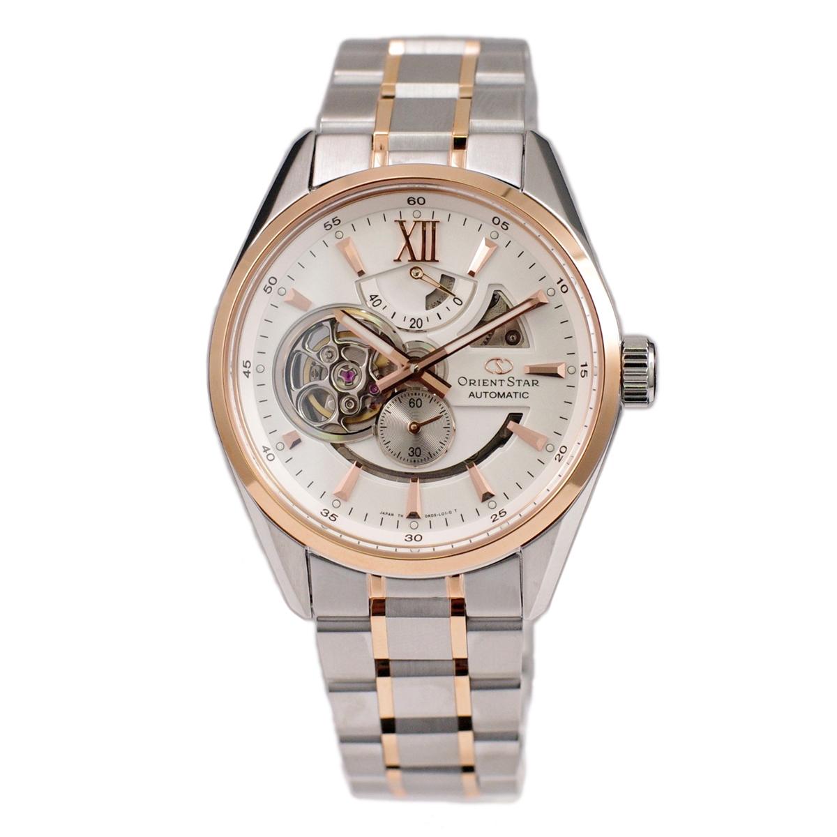 オリエント ORIENT 腕時計 ORIENTSTAR オリエントスター 海外モデル 日本製 自動巻(手巻付き) モダンスケルトン ホワイト&ローズゴールド SDK05001W0 メンズ [並行輸入品]