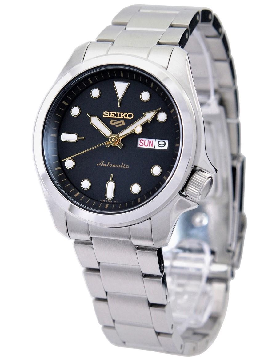 Seiko 5 Sports Automatic Men's Black セイコー SEIKO SPORTS 登場大人気アイテム 海外モデル 腕時計 逆輸入品 ブラック SRPE57K1 メンズ 買取 スポーツ 自動巻き