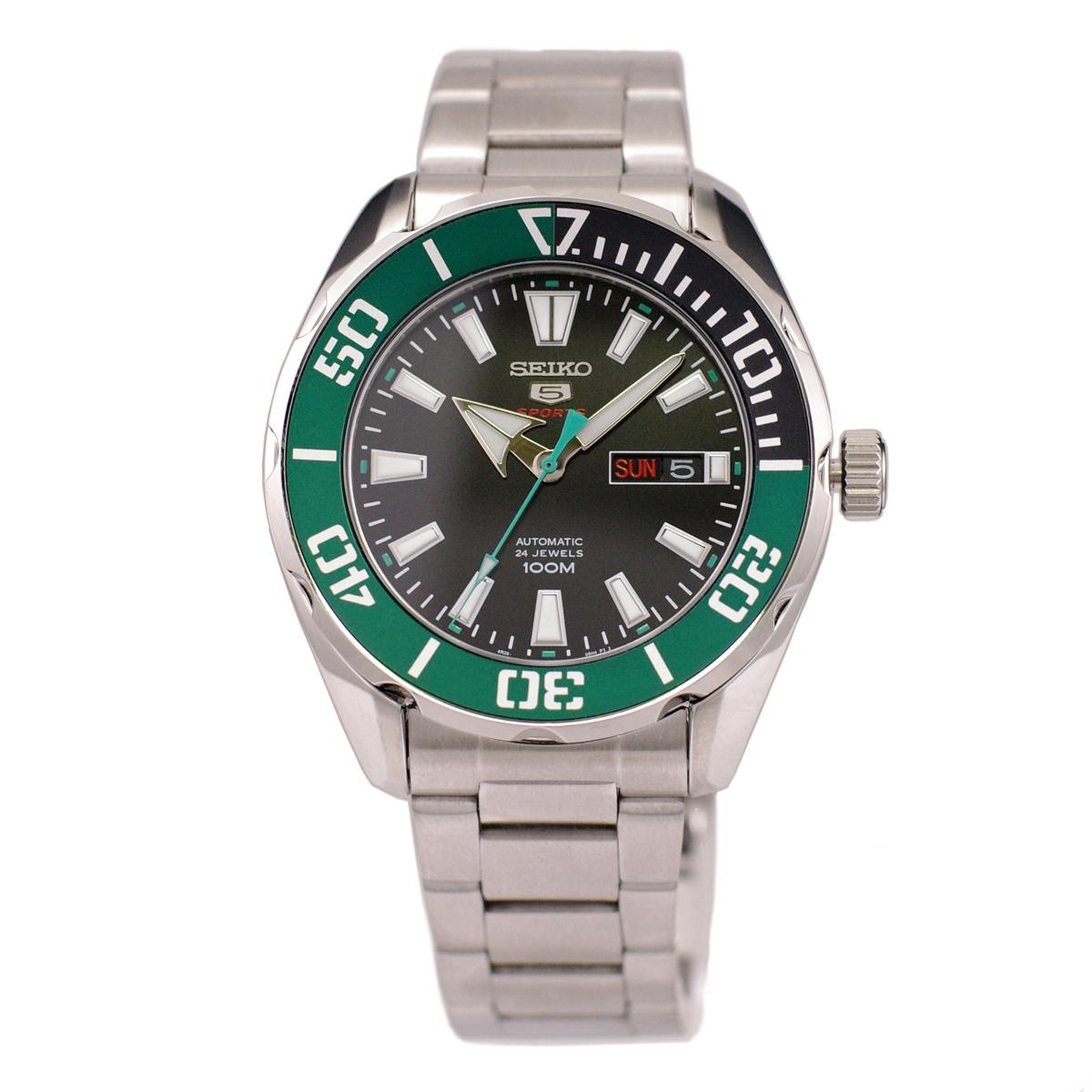 セイコー SEIKO 5 SPORTS 腕時計 海外モデル 自動巻き(手巻付き) 100m防水 グリーン SRPC53K1 メンズ [逆輸入品]
