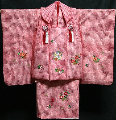 七五三 着物 3歳 女の子 着物 被布セット 新品73j286