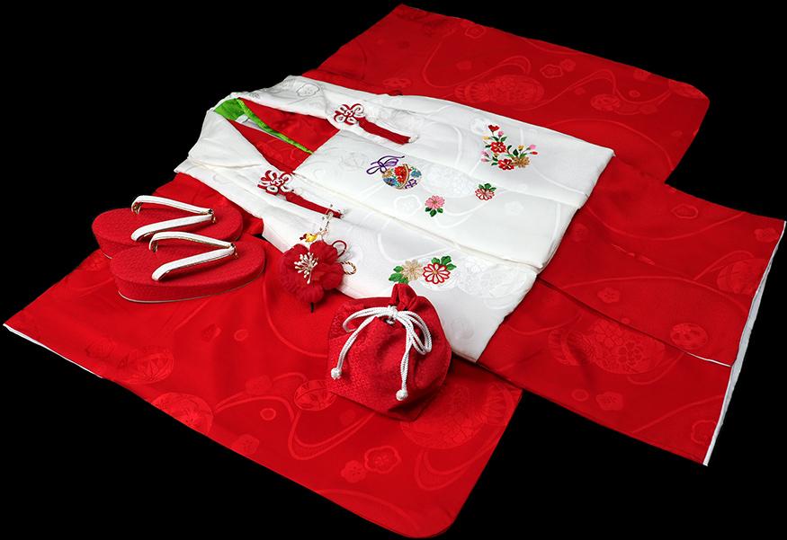 七五三 着物 3歳 女の子 正絹 被布セット 新品73j291