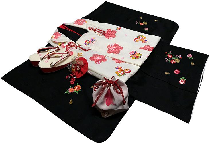 七五三 着物 3歳 女の子 着物 被布セット 新品73j311
