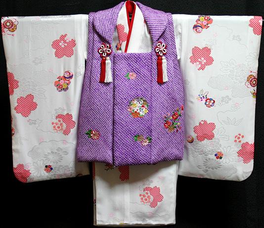 七五三 着物 3歳 正絹 被布セット 新品73j436