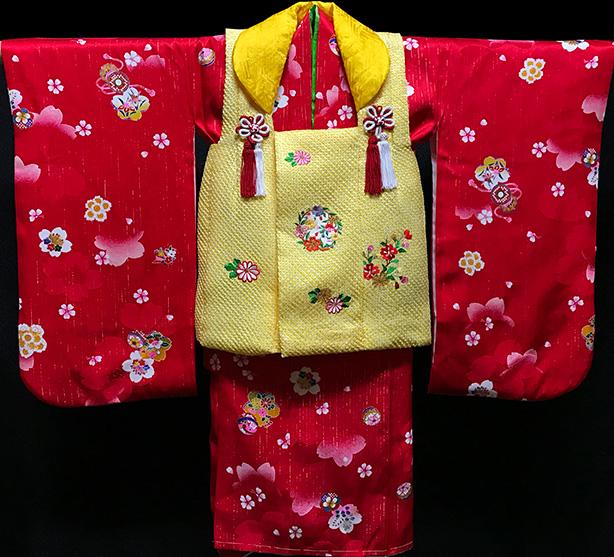 七五三 着物 3歳 正絹 被布セット 新品73j446